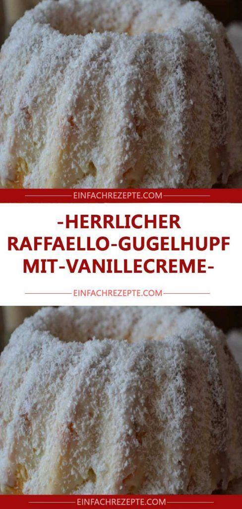 Photo of delicious-raffaello-gugelhupf-with-vanilla cream ? ? ?