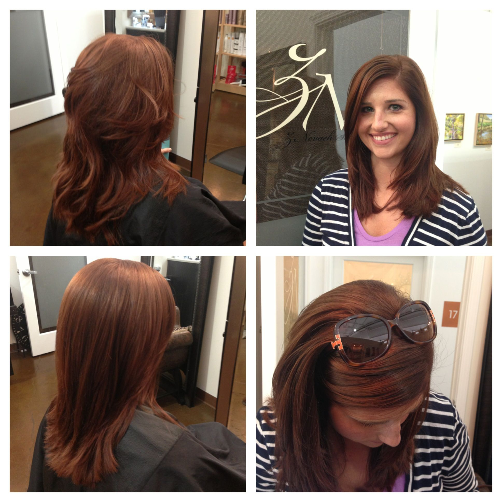 Before After color cut blowout by Lezlie Price at Z Nevaeh Salon