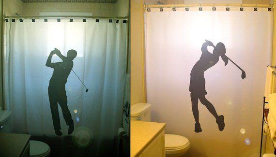 Golf Shower Curtain Golfer Bathroom Decor For Girls Or Women