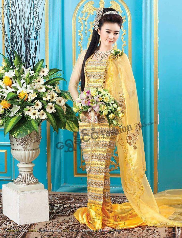 Myanmar wedding dress pictures