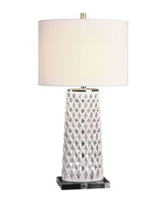 Uttermost Dania White Table Lamp Open Misce Table Lamp White Table Lamp Lamp