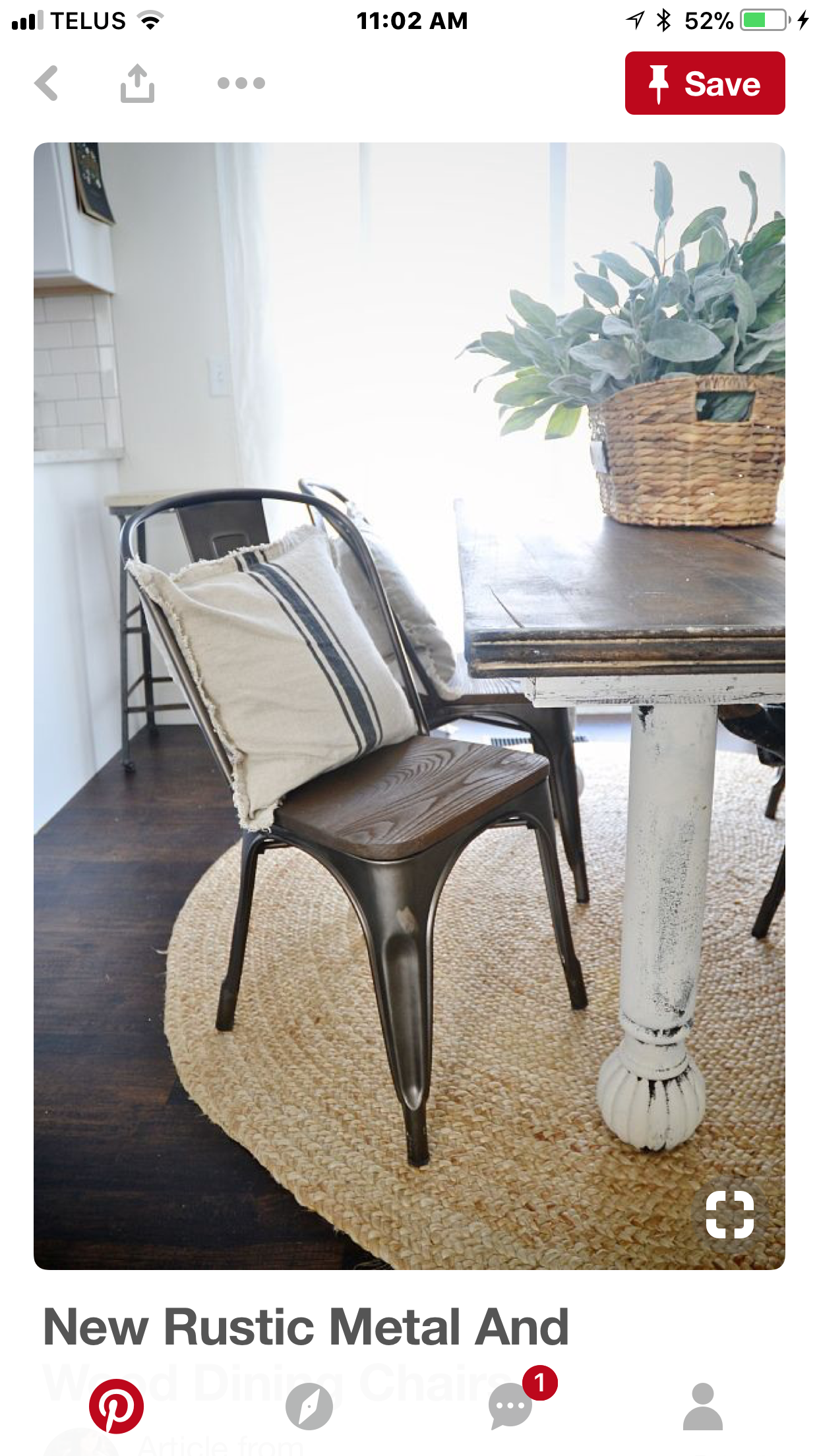 Pin By Emily Printz On Home Decor Ideas Farmhouse Dining Chairs Rustic Dining Chairs Metal Dining Chairs