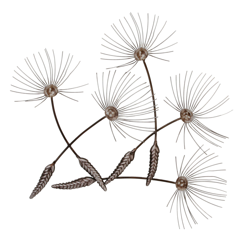 Contemporary Metal Wall Art - Dandelion Seeds: Amazon.co ...