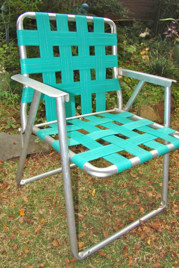 Exceptionnel Aluminum Lawn Chair. Folding. Webbed. RV. Teal. By TheGrayFedora