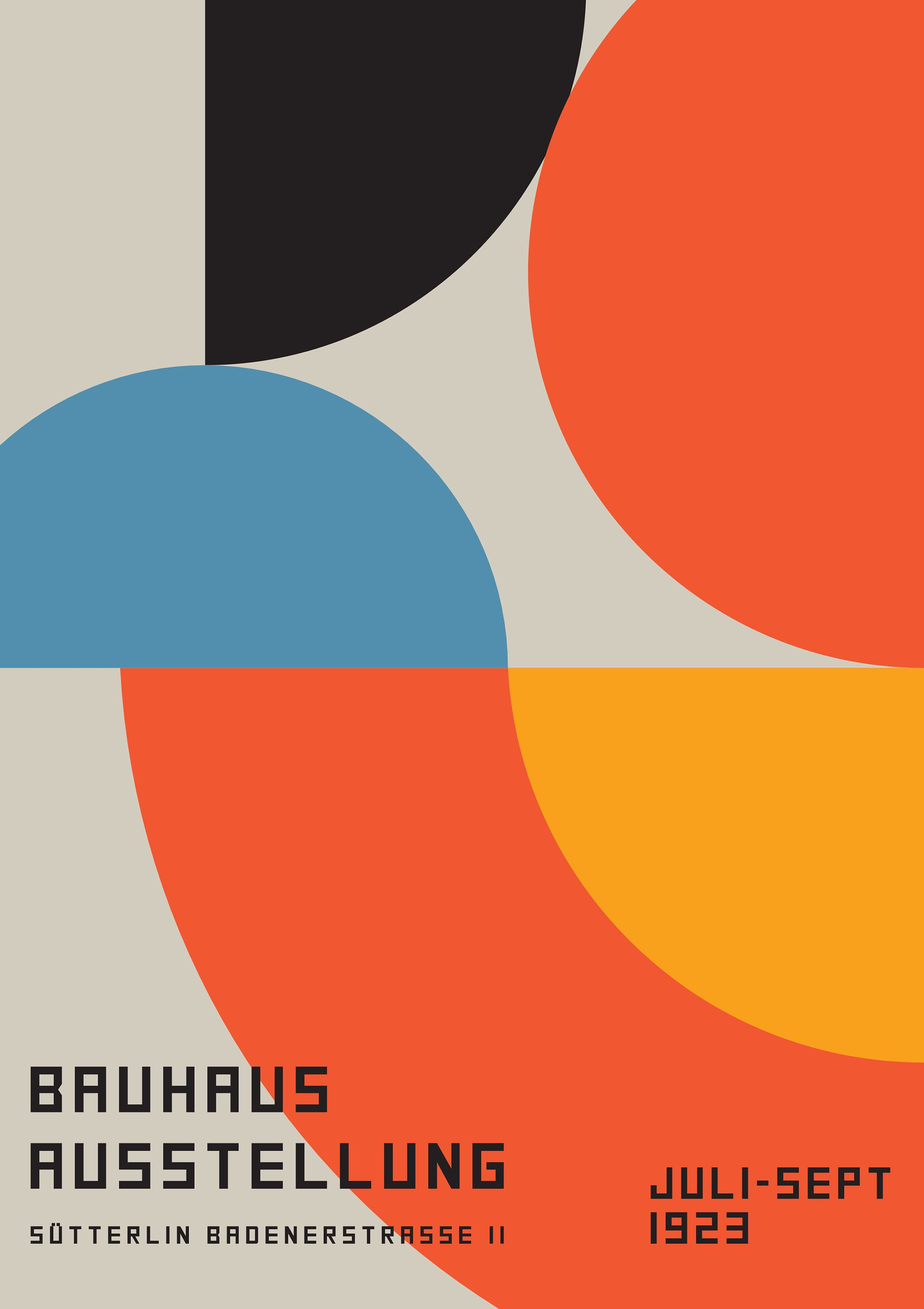 Bauhaus Exhibition Poster Framed Abstract Print 24x36 20x30 18x24 14x20 11x17 Bauhaus Art Bauhaus Bauhaus Design
