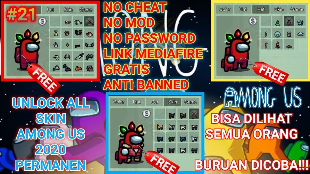 New Update Script Among Us All Skin 2020 No Password Among Us Indonesia 21