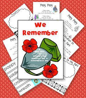 Sandras Savvy Teaching Tips Remembrance Day Freebie