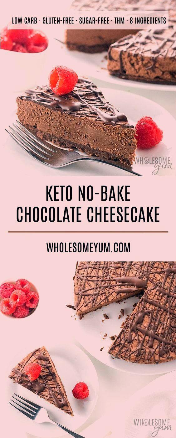 Keto Low Carb No Bake Chocolate Recipe  An easy no bake chocolate ch - Keto Brownies - Ideas of Ket