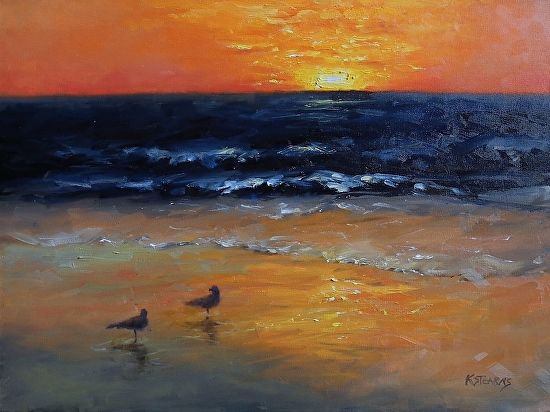 """""""California Dreaming"""" by Katie Stearns  ~ 18"""" x 24"""""""