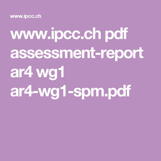 IPCC AR4 WG1 EBOOK DOWNLOAD