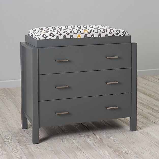 Uptown 3 Drawer Changing Table Grey The Land Of Nod