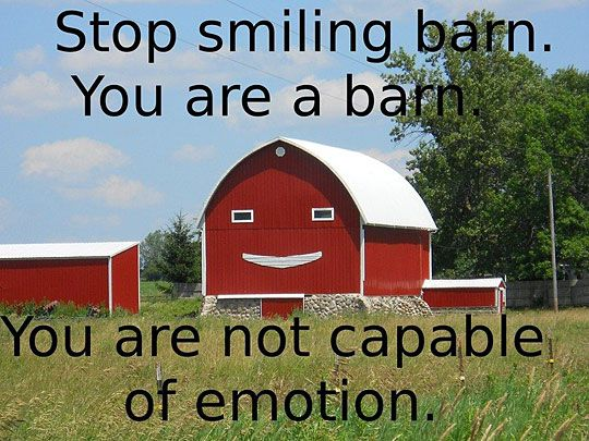 Stop Smiling Barn Funny Pictures Laugh