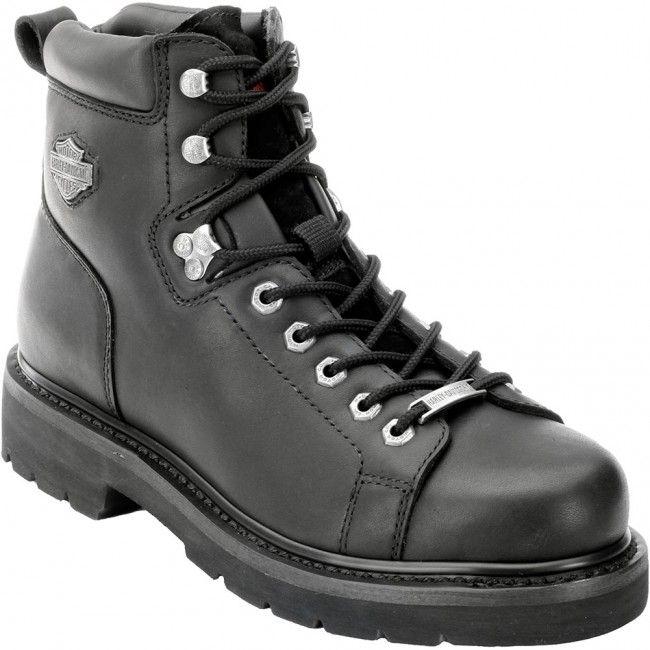 90fa3c330573 93199 Harley Davidson Men s Barton Motorcycle Boots - Black www.bootbay.com