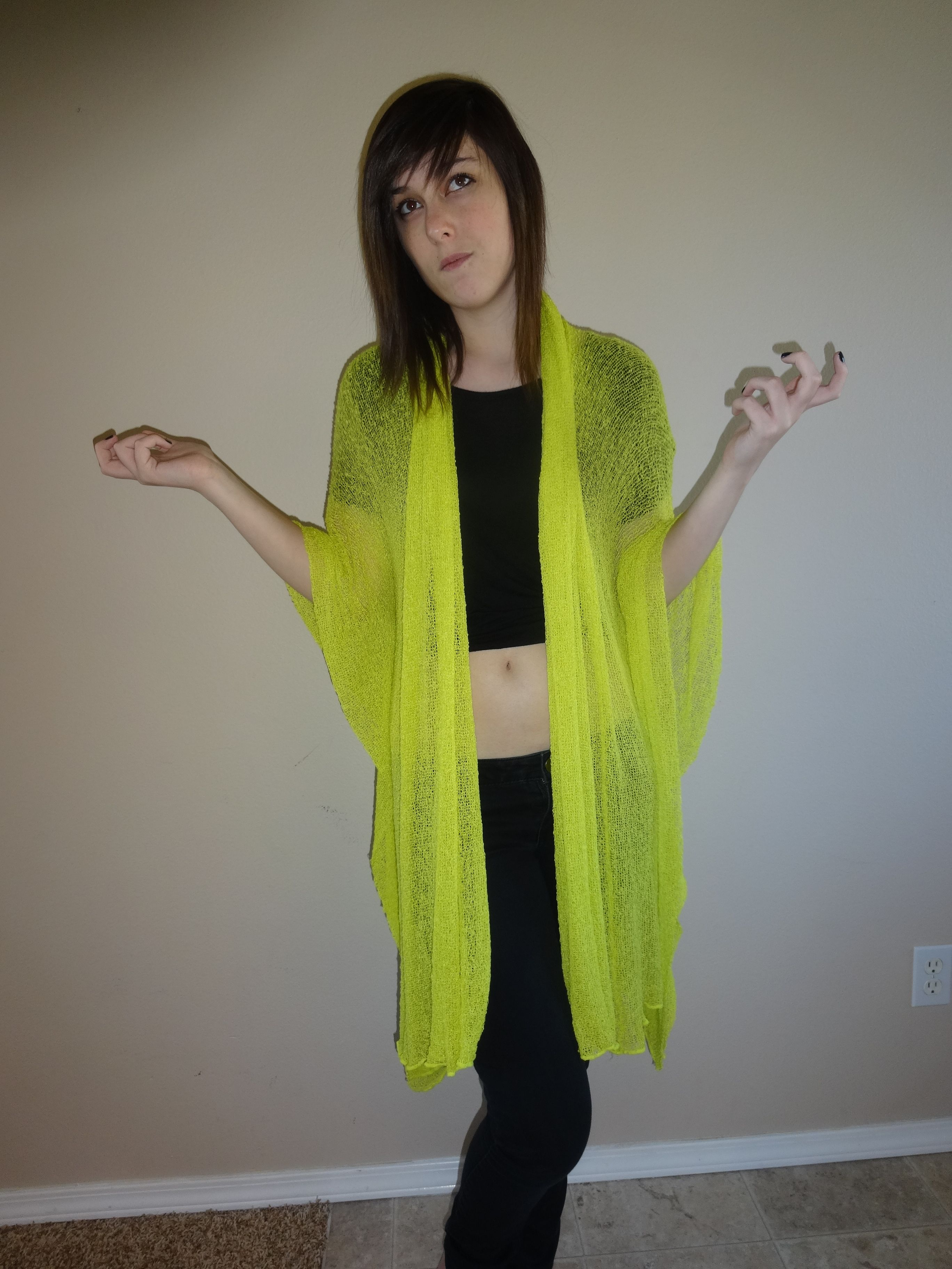 Bali Apricot Convertible Mesh Cardigan Wrap One Size Fits All Handmade Can be Worn at Least 12 Different Ways