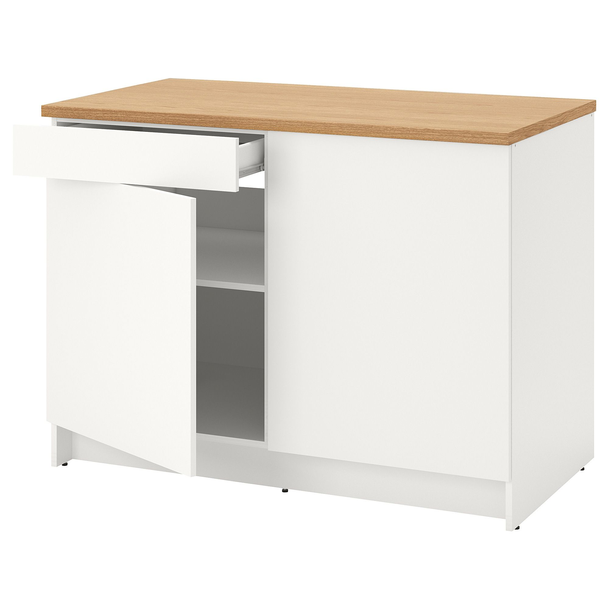 Ikea Knoxhult White Base Cabinet With Doors And Drawer Base Cabinets Cabinet Doors Kitchen Modular