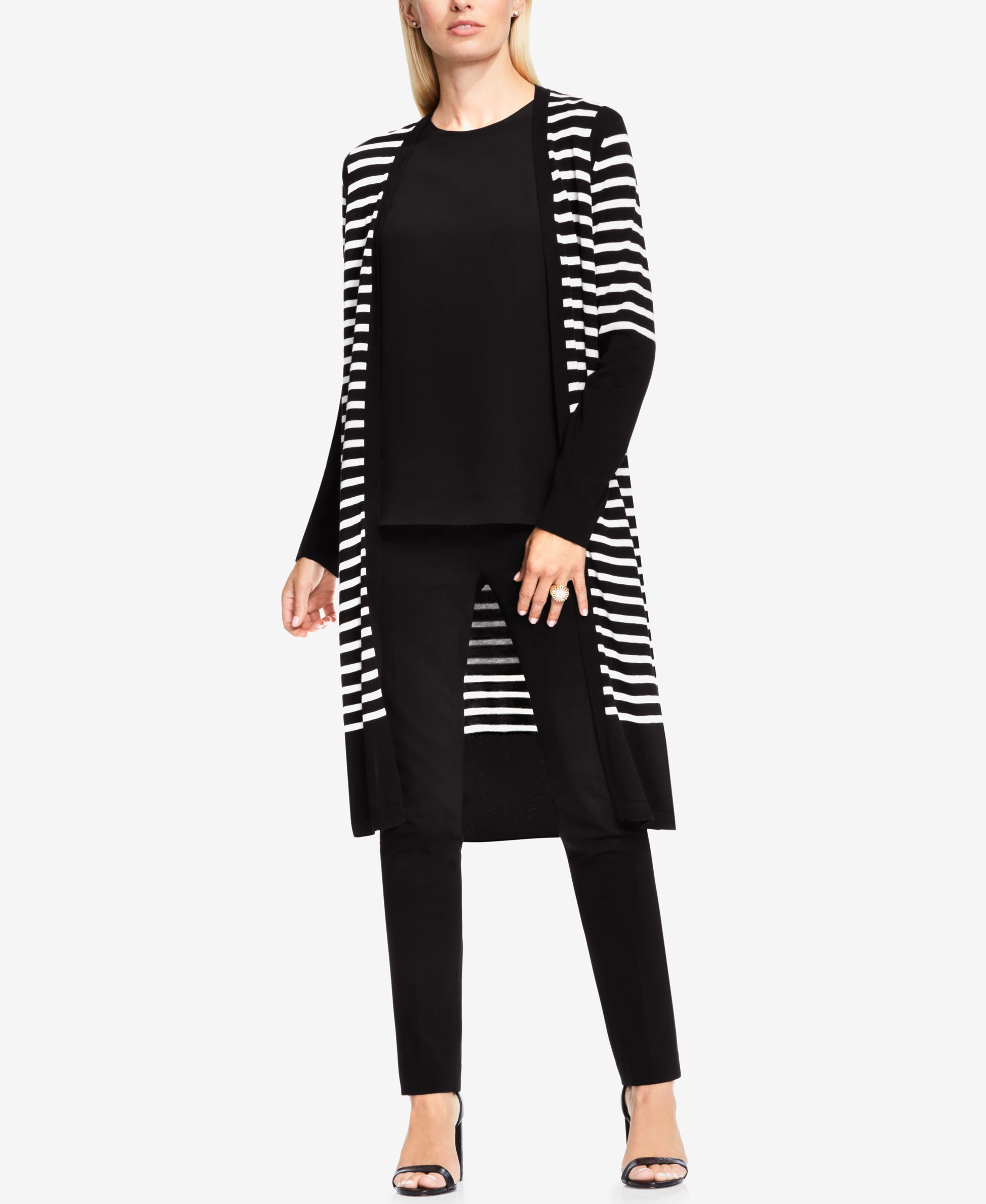 Vince Camuto Striped Open-Front Cardigan | Shops, Products and ...