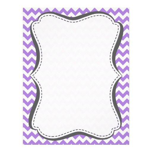Showing Gallery For Purple Chevron Border Template baby shower