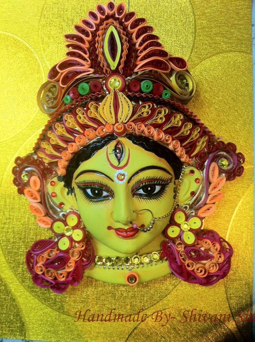 Magickrafts: Maa Durga! | Paper Quilling - Indian Style | Pinterest ...