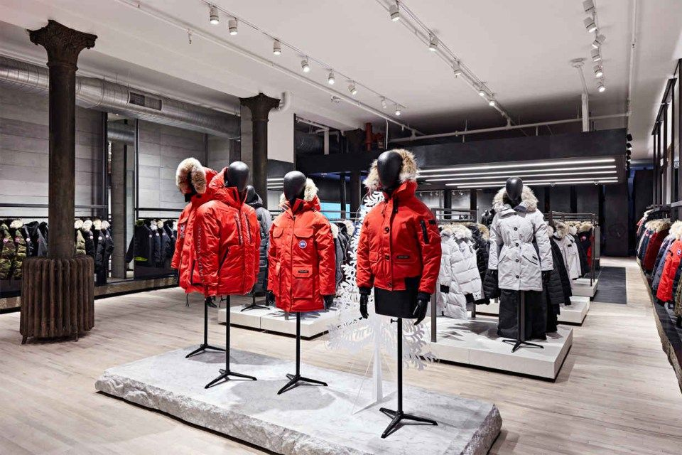 Canada Goose Launches Flagship Store In Nyc Canada Goose Store Canada Goose Shop Canada Goose