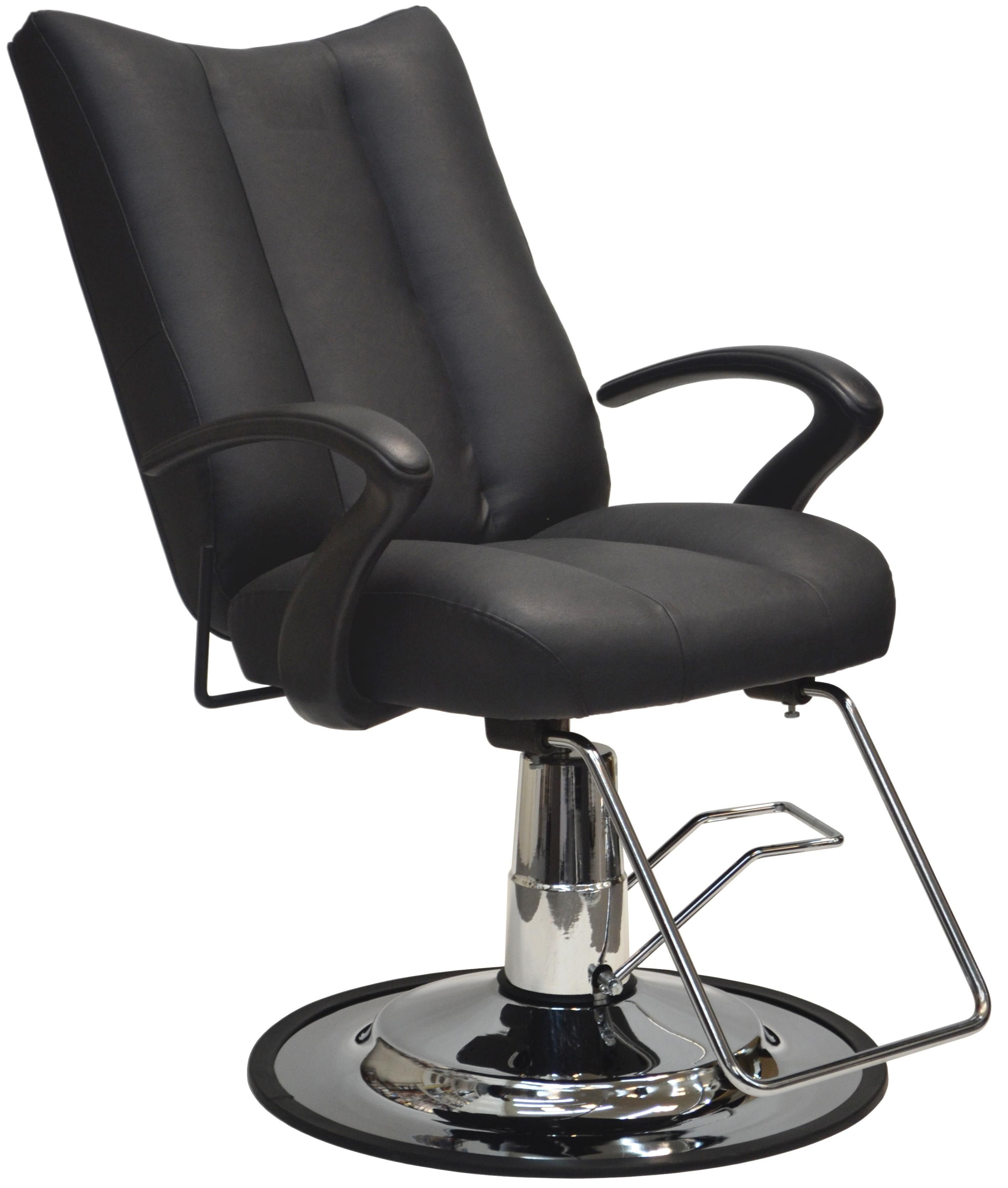Deluxe make up chair on oversize round hydraulic base