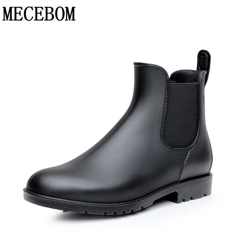 huge selection of c0800 89620 Для мужчин резиновые непромокаемые сапоги «Челси» Botas Hombre Повседневная  Slip-On waterproof ботильоны мокасины zapatos masculino 38-43 102 м