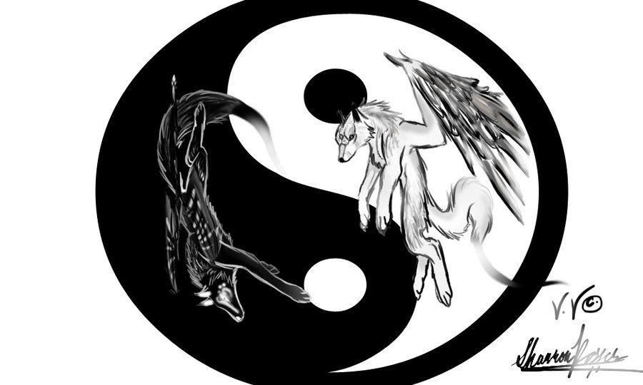 Yin and Yang Wolf   Wolves of Yin and Yang by Okami-Moonspiritwolf ...