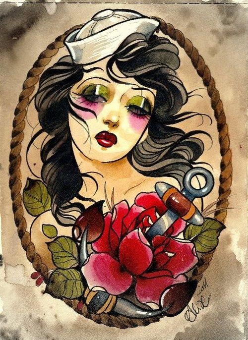 Sailor Girl Tumblr Tattoo Pinterest