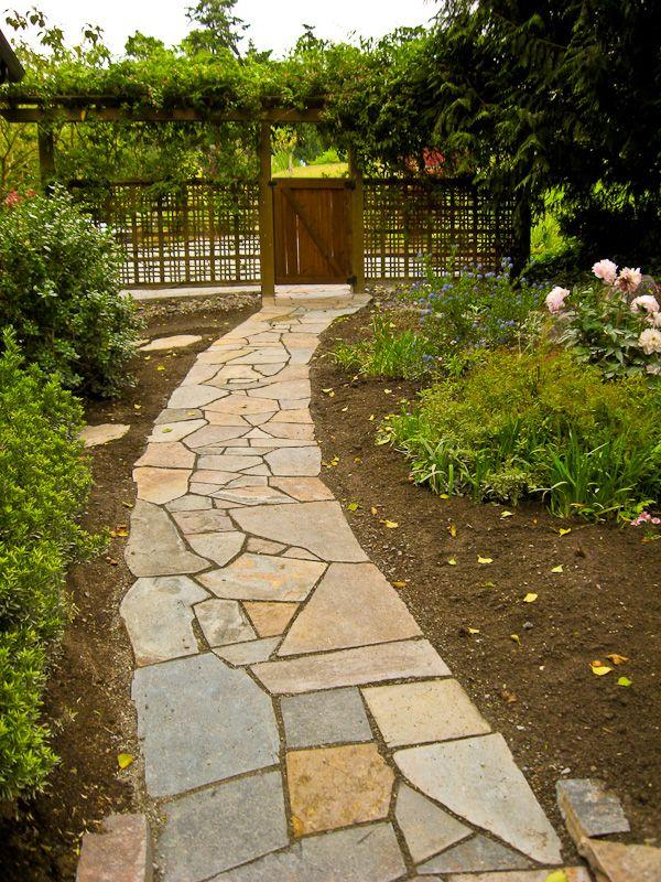 flagstone walkway deck steps