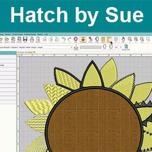 Hatch Embroidery Digitizing Software Lesson | Sue Class 7 Sunflower