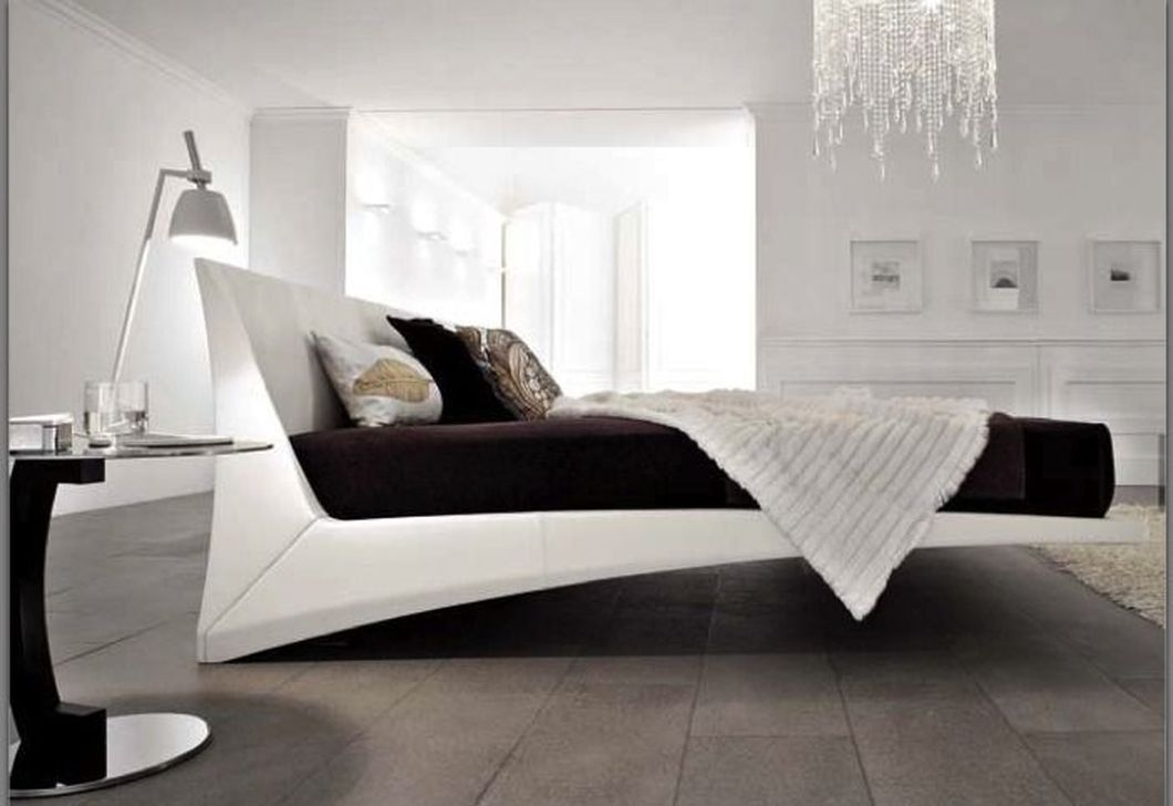 Contemporary Floating Bed Design Ideas