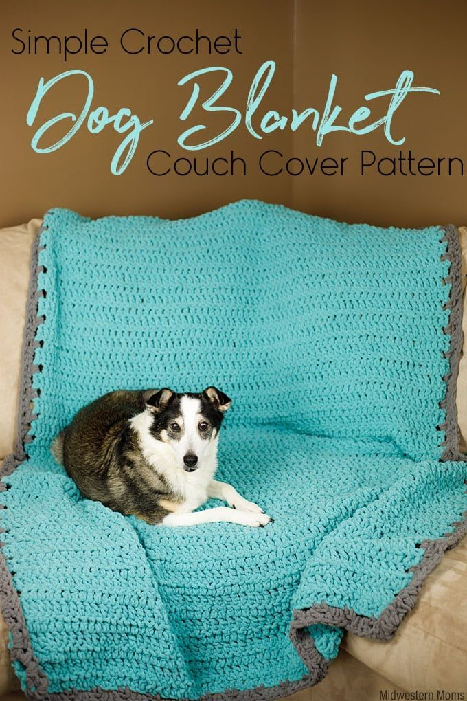 Simple Crochet Dog Blanket Couch Cover Pattern | Hunde