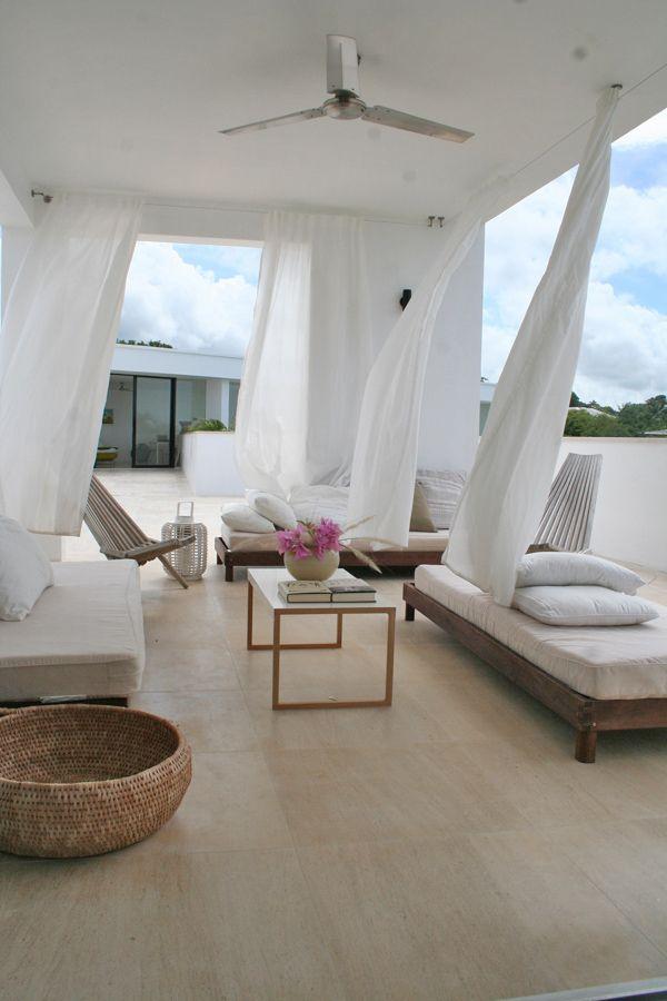 Atelier House Stunning Caribbean retreat in Barbados Cortinas - cortinas para terrazas