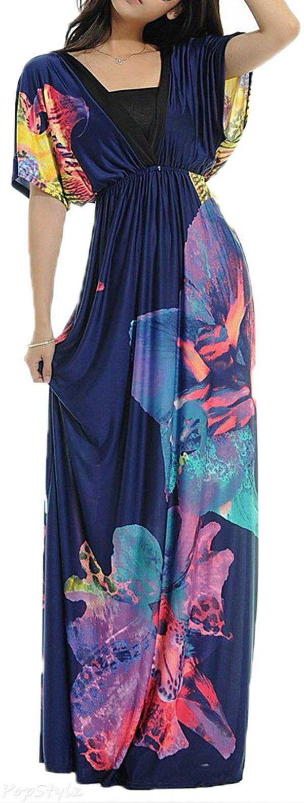 like the dress minus the sleeves- Cap Sleeve Casual Maxi Dress