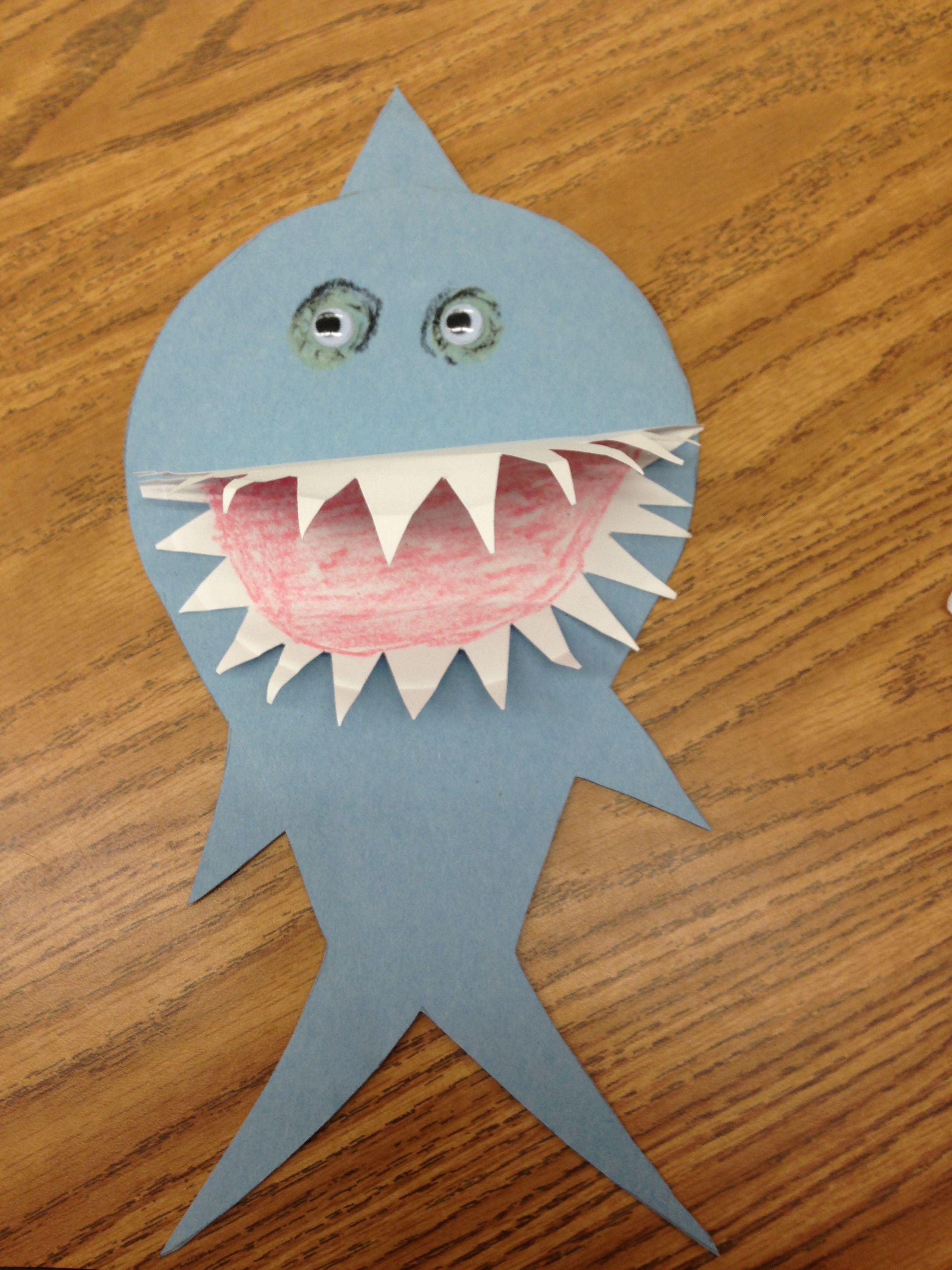 Shark paper plate project & Shark paper plate project | Paper plate animals | Pinterest ...