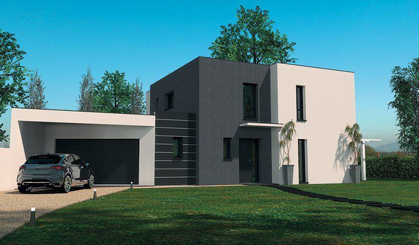 Maison contemporaine tage 160 m 4 chambres maison for Garage ford loire atlantique