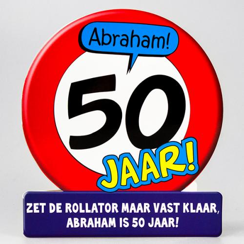 Uitgelezene Tekst op de kaart: 50 jaar Abraham! Zet de rollator maar vast TH-19