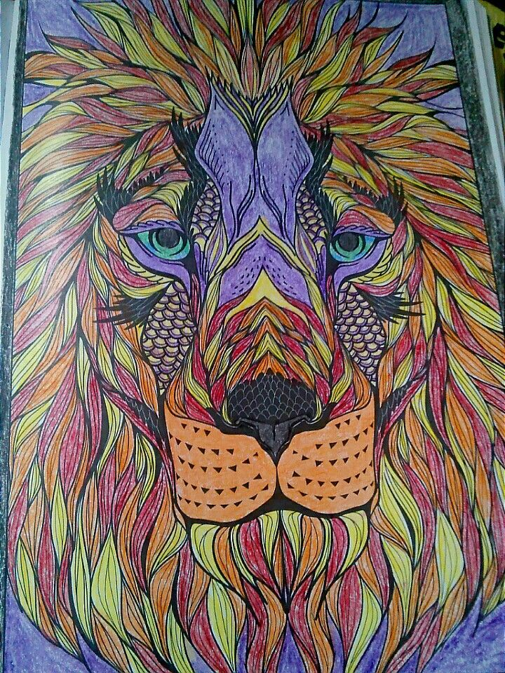 Colored from bendon coloring book by me- Nicole | My art ...