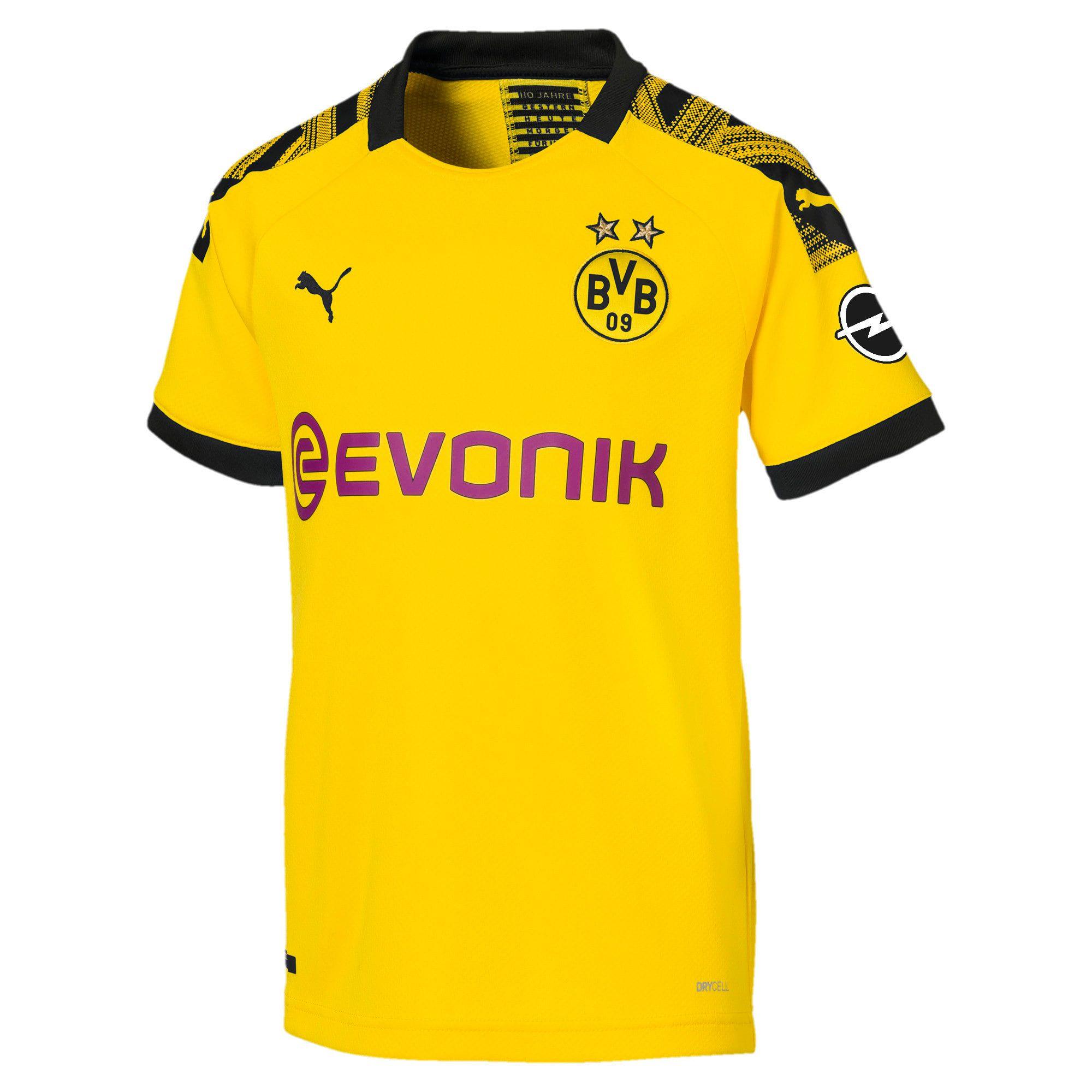 Maillot domicile BVB Replica pour enfant   Yellow black