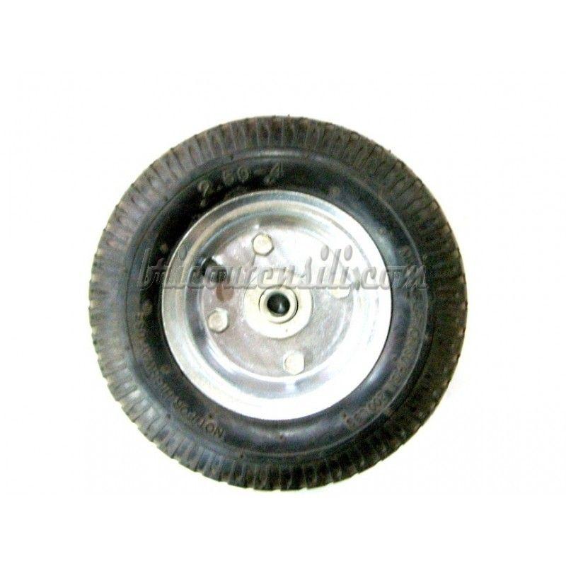 Ruote In Metallo.Ruota Pneumatica Per Carrelli Leggeri Portacasse Mm 210x60