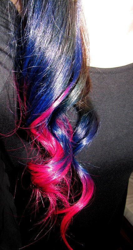 One Piece Ombre Hair Extensions Bright Pink And By Forestnine