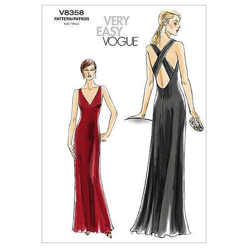 Vogue Patterns V8358 Misses' Dress, Size AAX (4-6-8-10