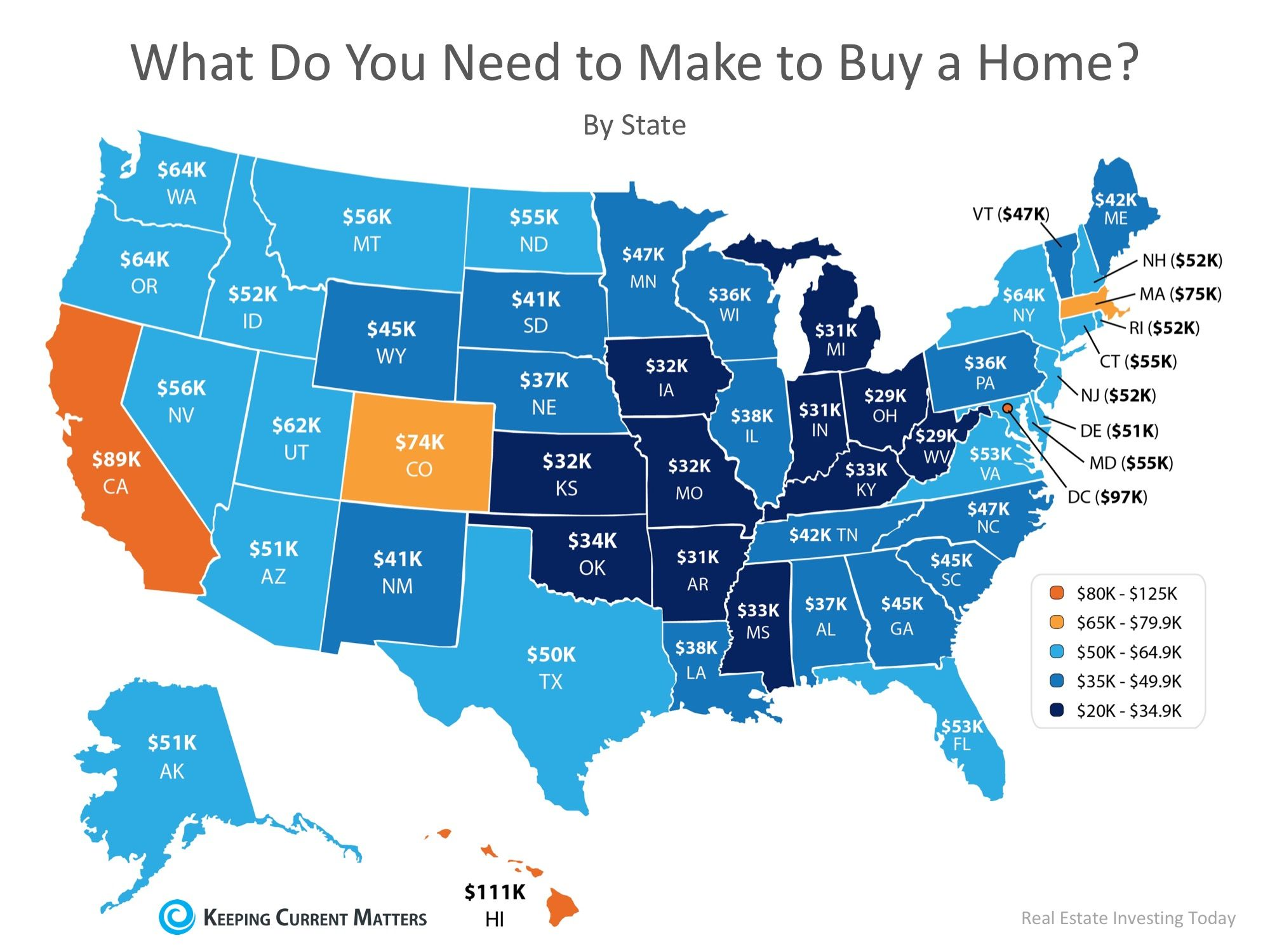 How Much Do You Need to Make to Buy a Home in Your State