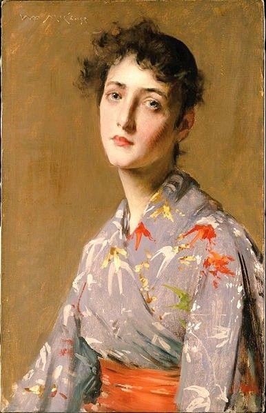 Girl in a Japanese Costume, William Merritt Chase, c.1890
