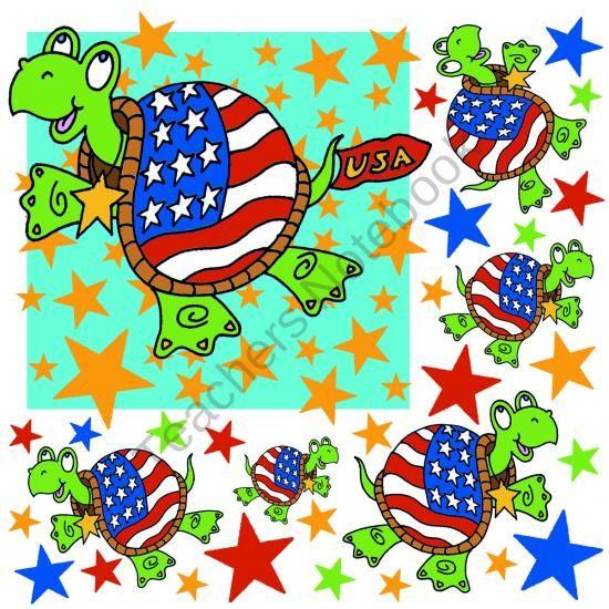 Patriotic Turtle Part 1 product from FUN4U on TeachersNotebook.com