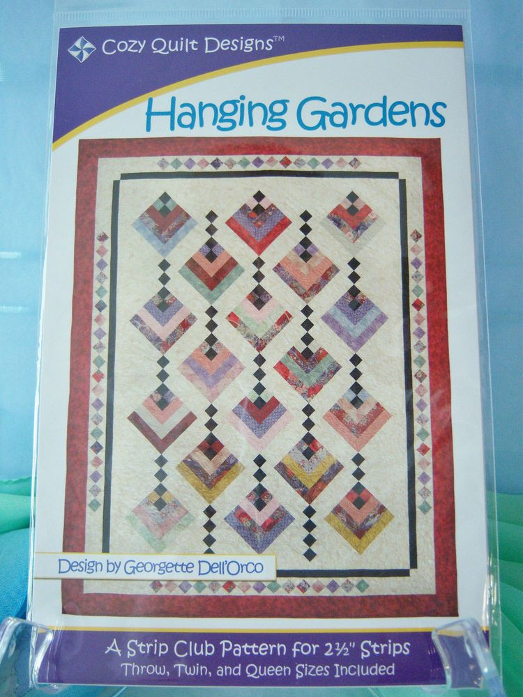 Details About Hanging Gardens Quilt Pattern Use Jelly Roll