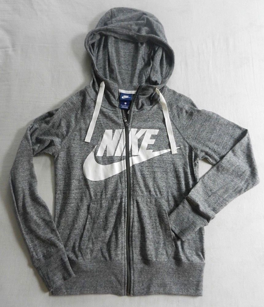 c2898b15906d Nike Sportswear Womens Full Zip Hoodie Jacket w Swoosh Graphic Adult Small  NWT  Nike  Hoodie
