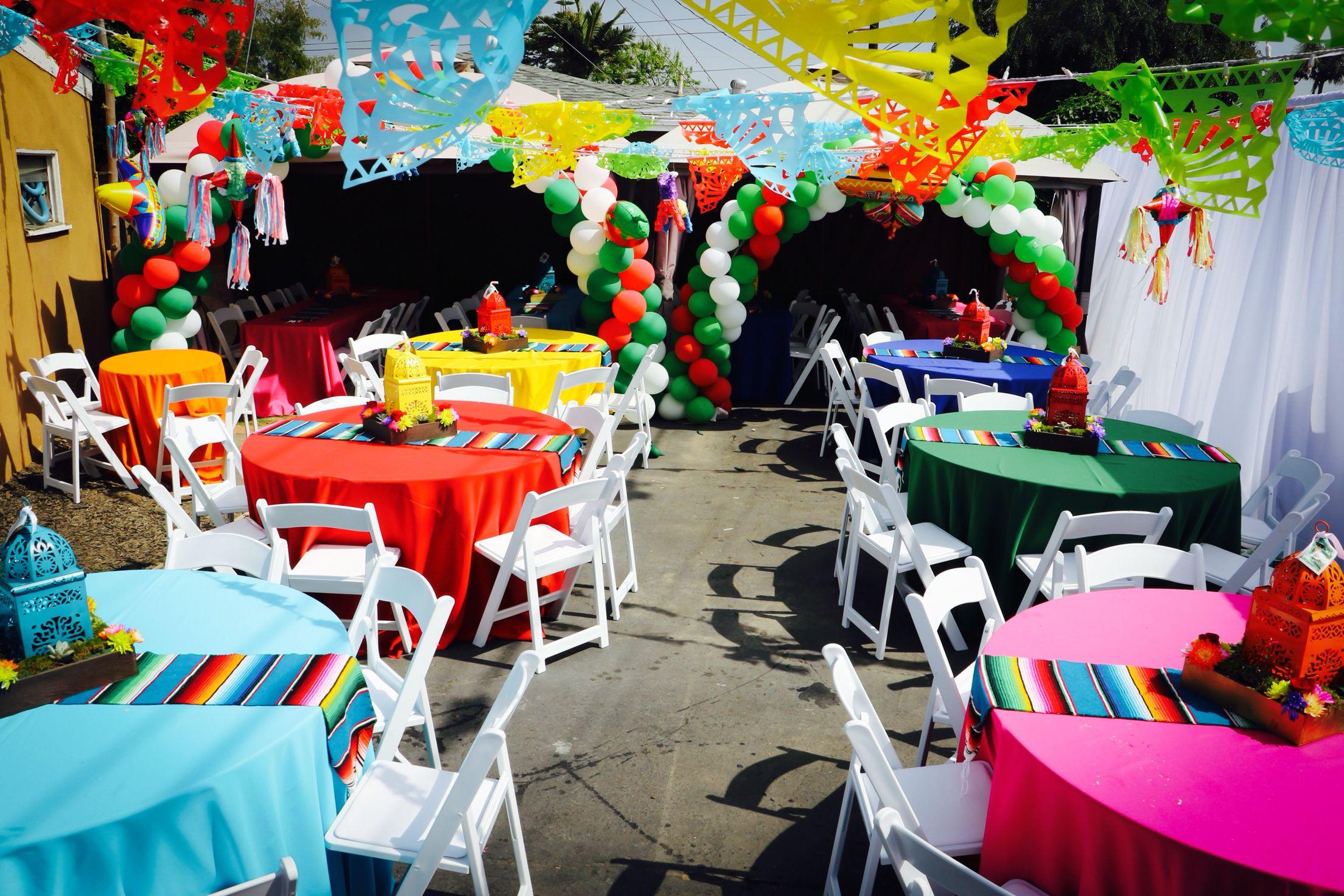 Fiesta party , Mexican party , paper Picado , Centerpieces ...