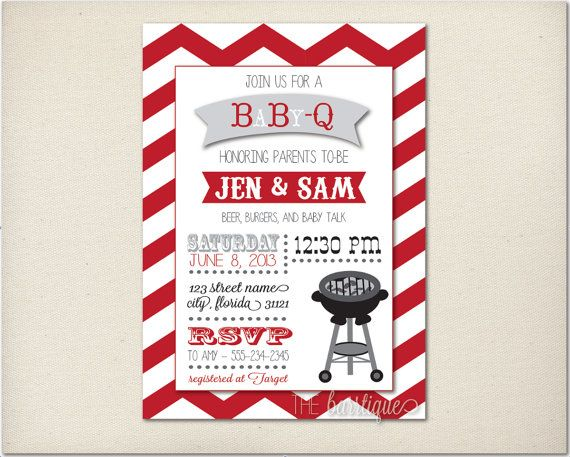 babyqbabycuebaby q shower invitations personalized digital printable bbq baby