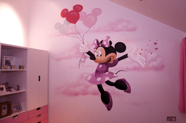 Minnie Mouse Nursery Murals | Minnie Mouse Nursery Mural Part 76