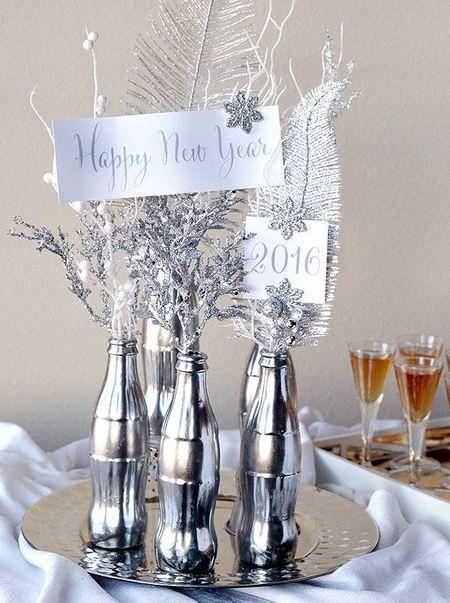 El mundo del reciclaje decoraci n de mesa de fin de a o - Decoracion fin de ano ...